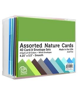 ASSORTED CARD & ENVELOPE SETS - nature smooth