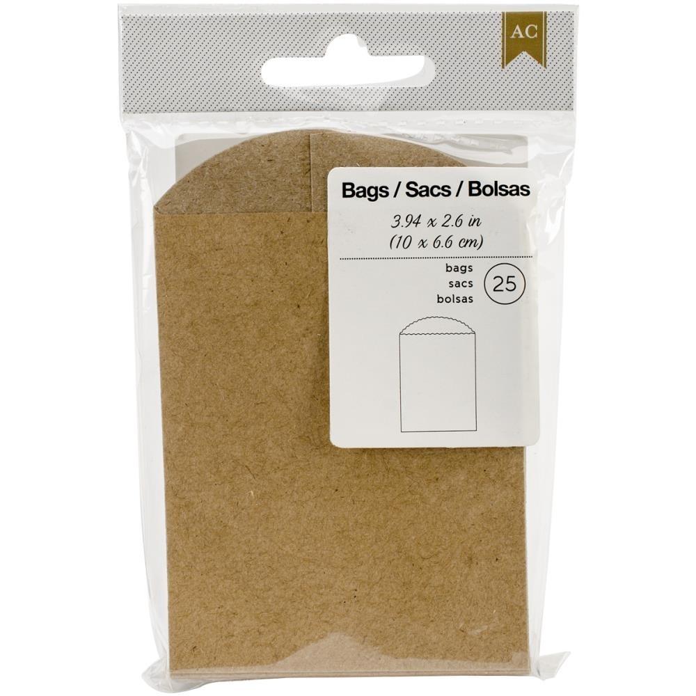 "American Crafts Mini Bags 3.94""X2.6"" 25/Pkg"