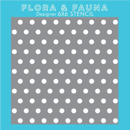 Flora and Fauna Polka Dot Stencil 40002