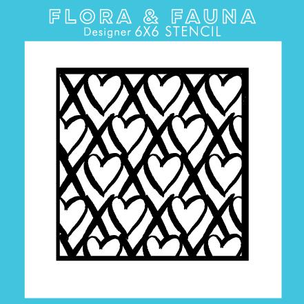 Flora and Fauna XOXO Stencil 40006