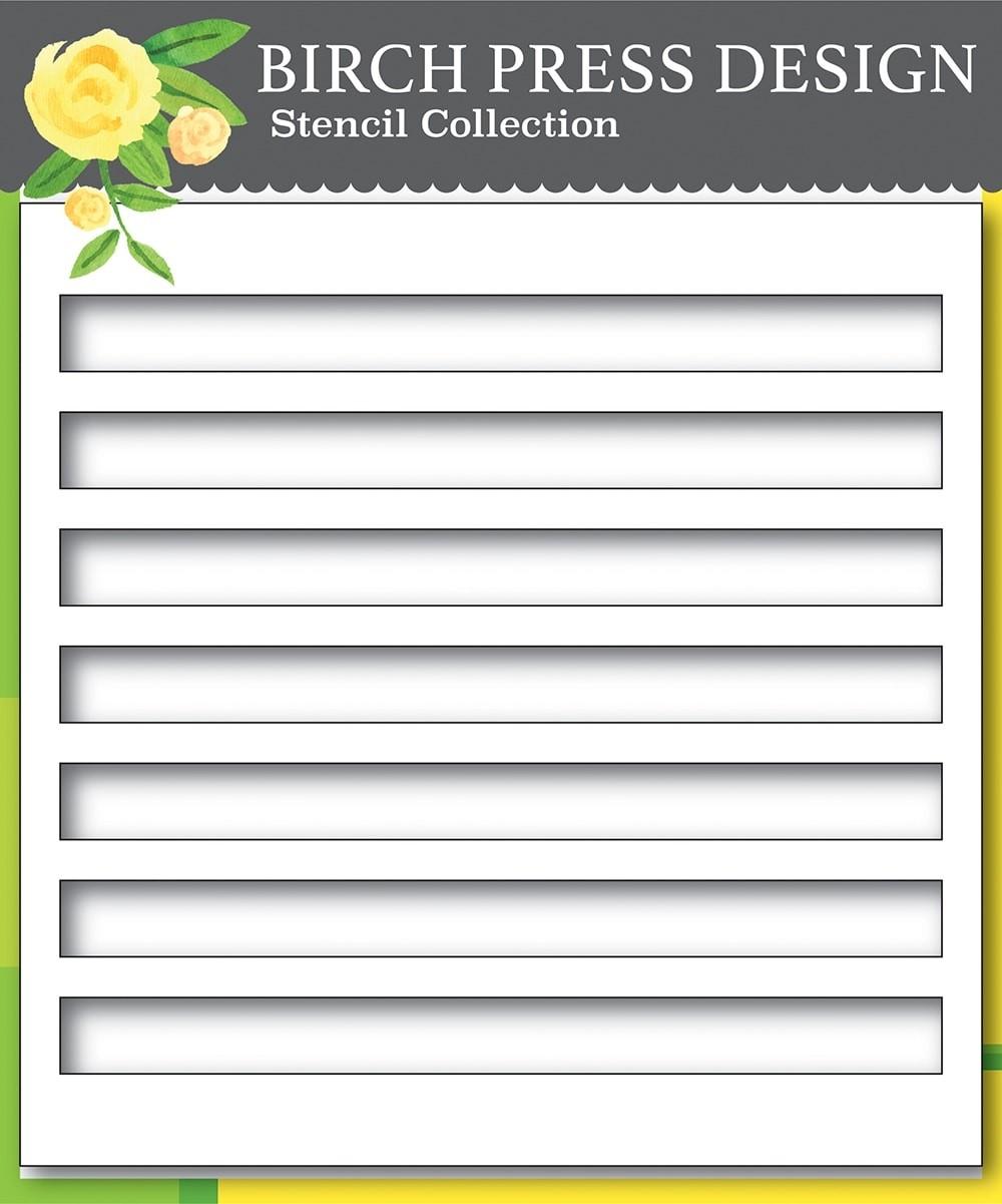 Birch Press Bold Stripes Stencil 42029