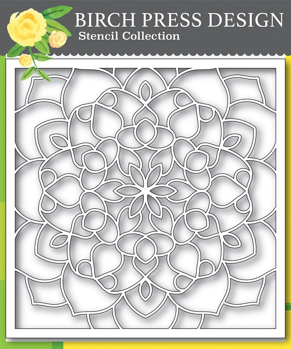 Birch Press Midnight Mandala Stencil 42031
