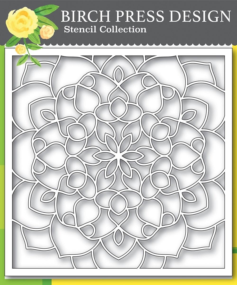 Birch Press Midnight Mandala Stencil 42031