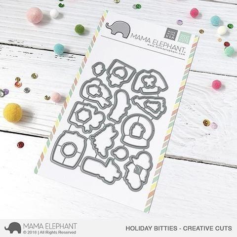 Mama Elephant Holiday Bitties - Creative Cuts