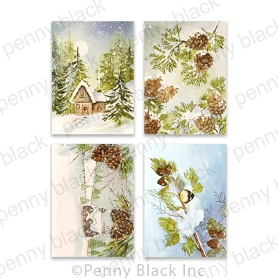 Penny Black Pinecones & Peace Cards