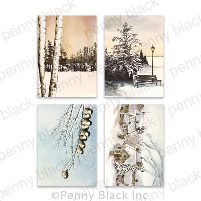 Penny Black Snowfall Serenity Cards