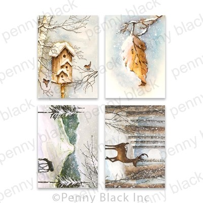 Penny Black Icy Winds Cards