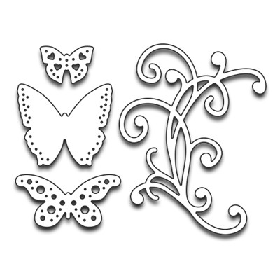 Penny Black flourish & butterflies 51-198
