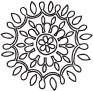 5173C - doodle star flower
