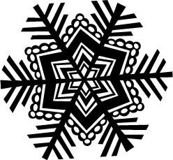 5201G - lg frosty cut snowflake