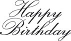 5214C - happy birthday two line