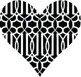 5243d - trellis heart
