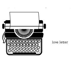 5244E - typewriter (love letter on side)