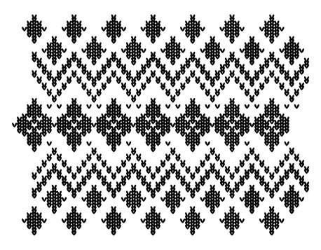 5306K - knitted argyle border