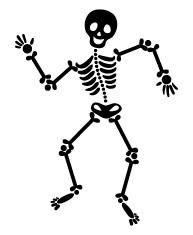 5323E - dancing skeleton