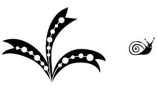 5369E - ribbon leaves w/snail
