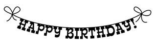 5377D - happy birthday banner