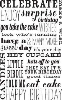 5385I - happy birthday words