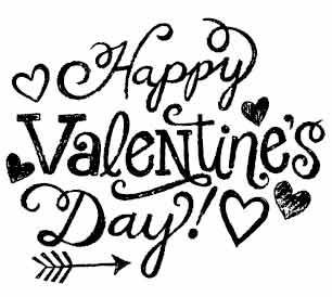 5438f - chalk happy valentines day