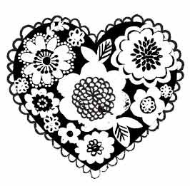 5447e - floral heart