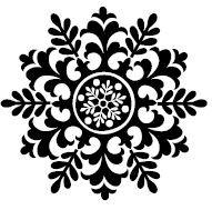 5530d - medium folk snowflake