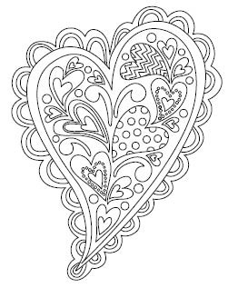 5549f - coloring book heart
