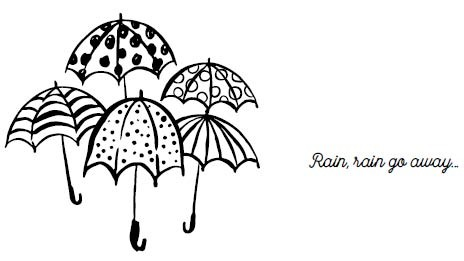 5631f - bunch of umbrellas rubber stamps combo