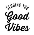 5642b - good vibes rubber stamp