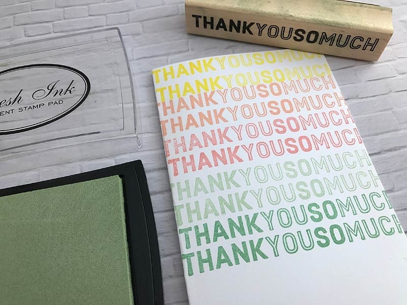 5644D - Thank You Border Rubber Stamp