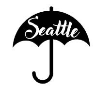 5653d - Seattle Umbrella rubber stamp