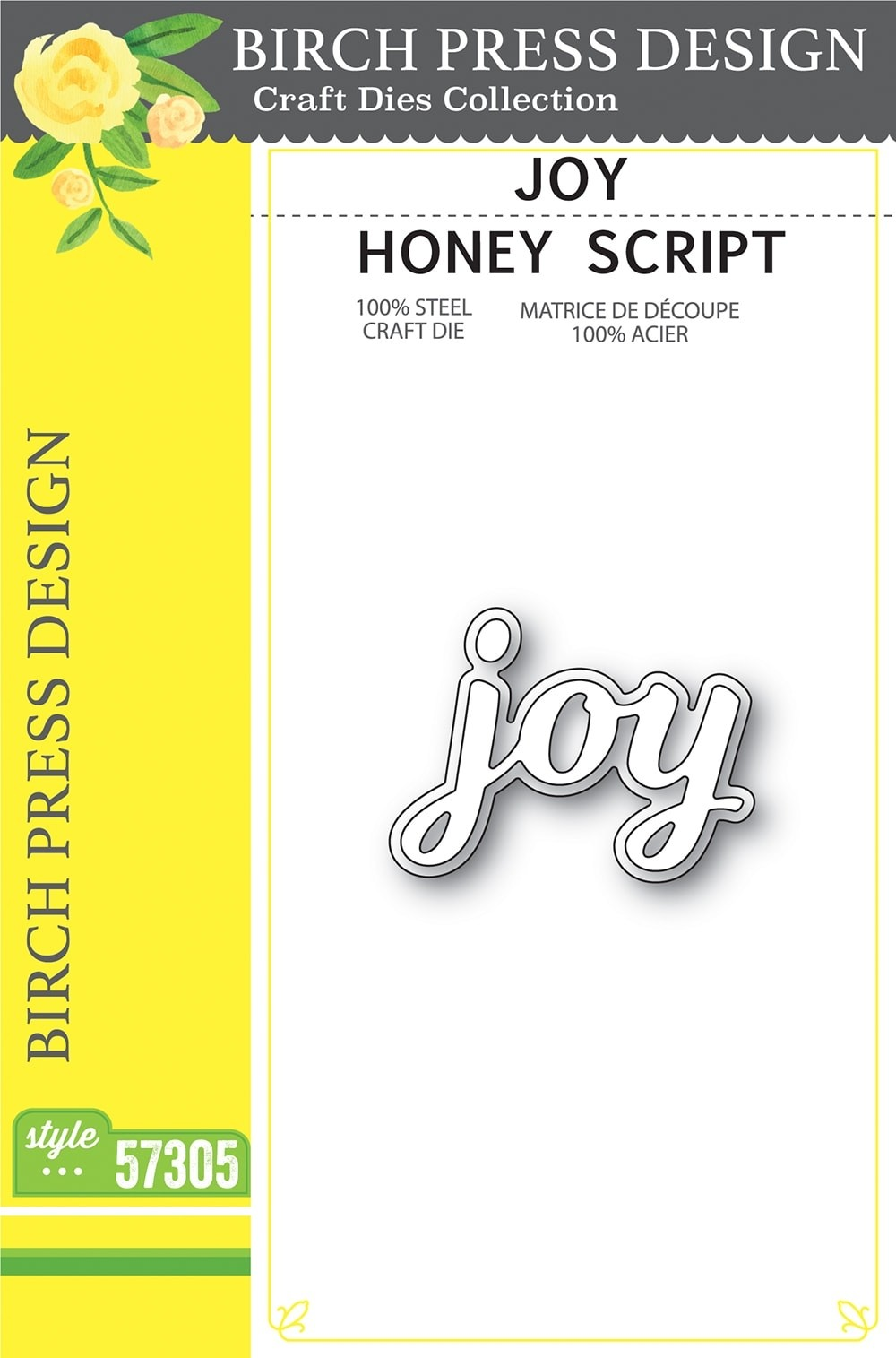 Birch Press Joy Honey Script 57305