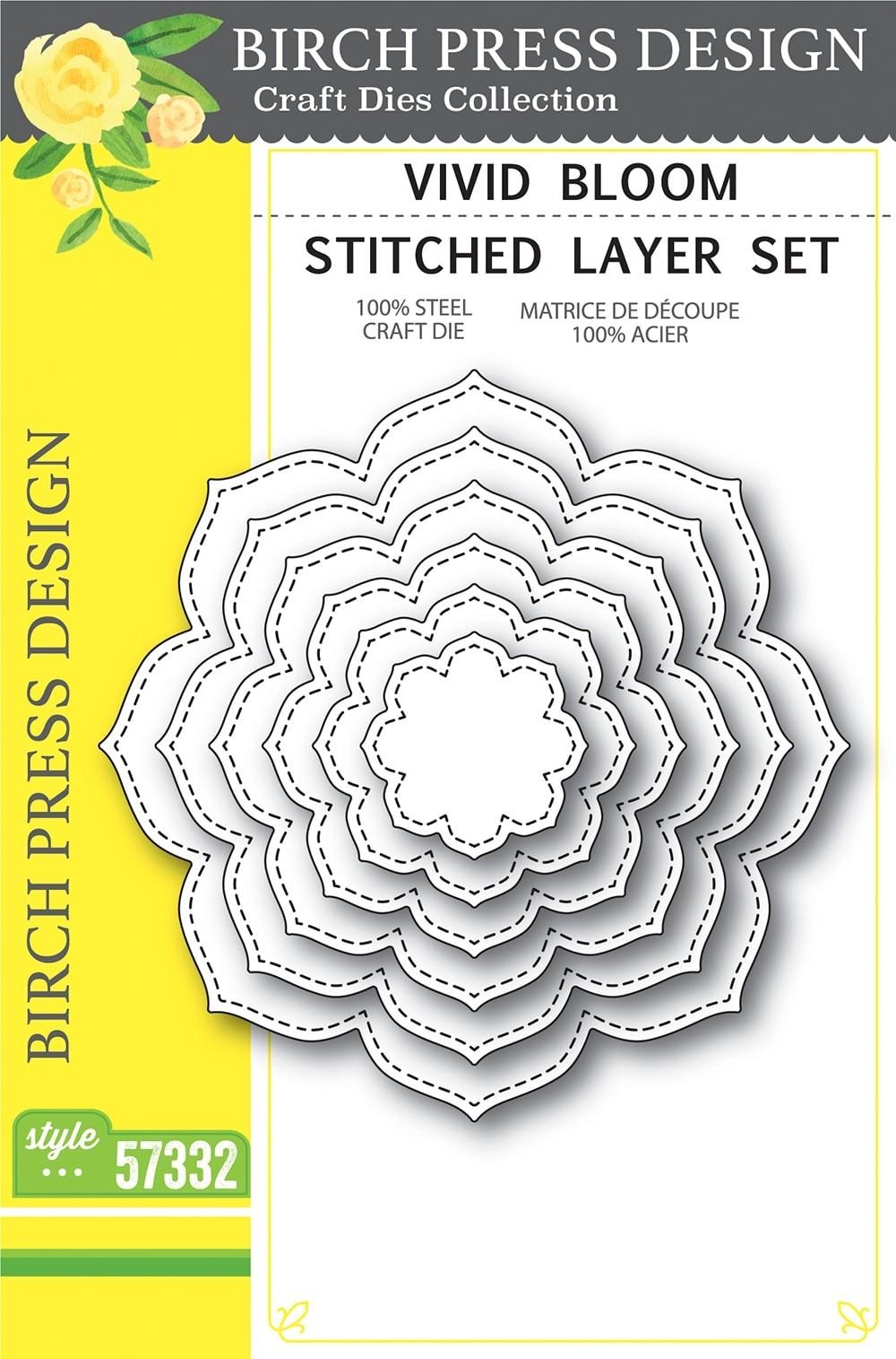 Birch Press Vivid Bloom Stitched Layer Set 57332