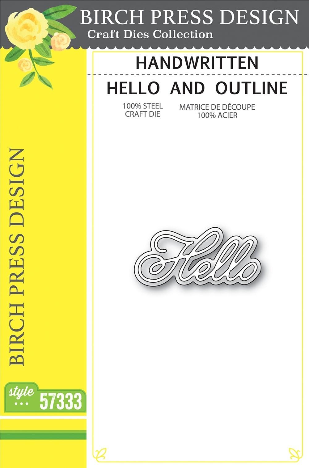Birch Press Handwritten Hello and Outline 57333