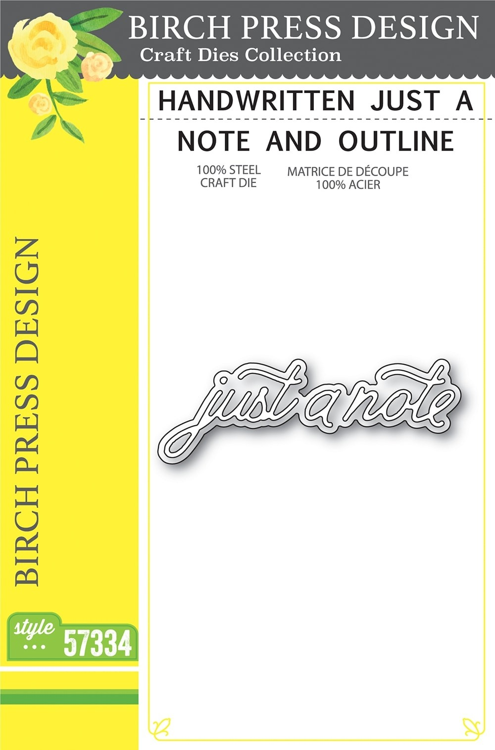 Birch Press Handwritten Just a Note and Outline 57334