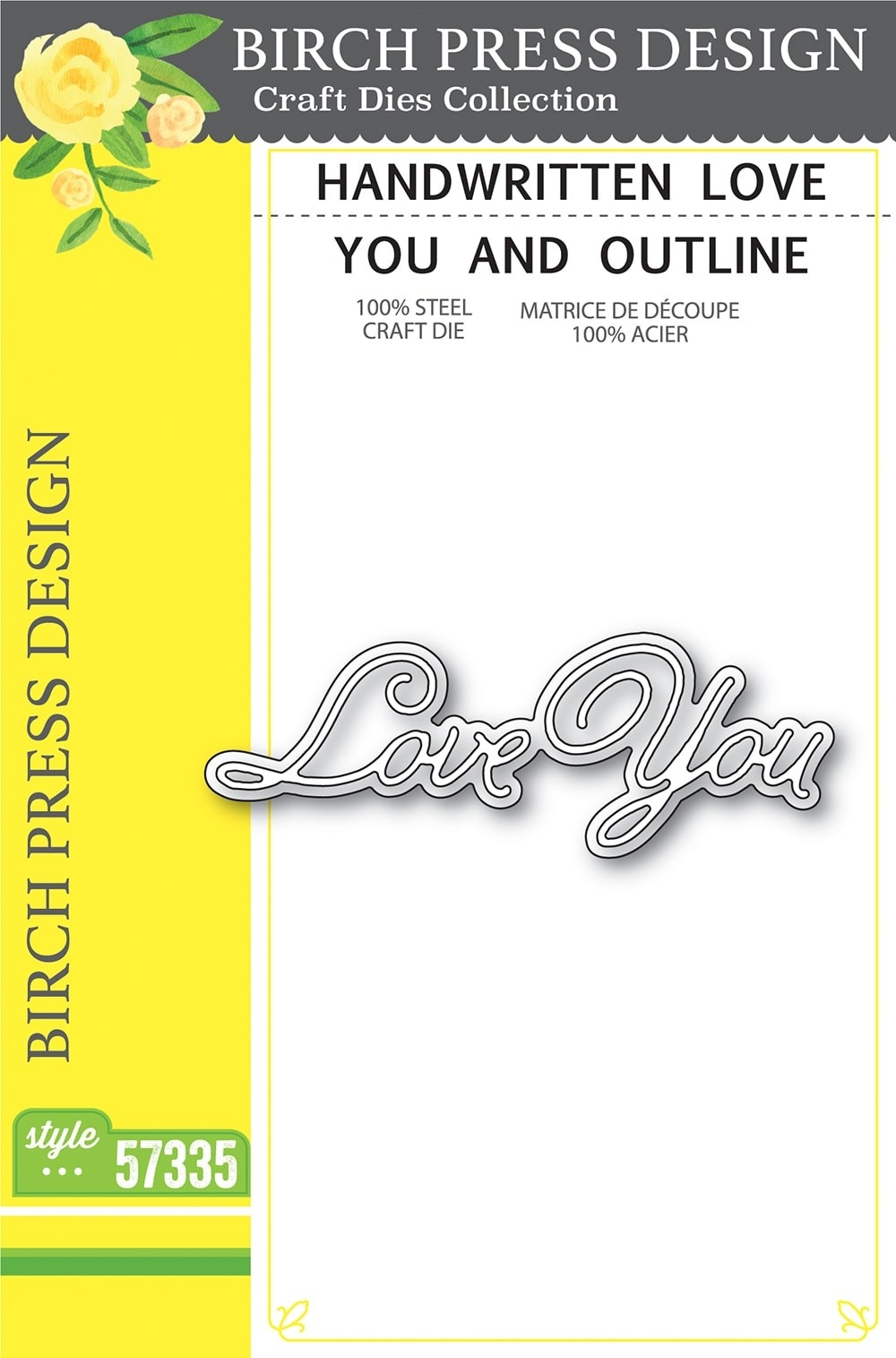 Birch Press Handwritten Love You and Outline 57335