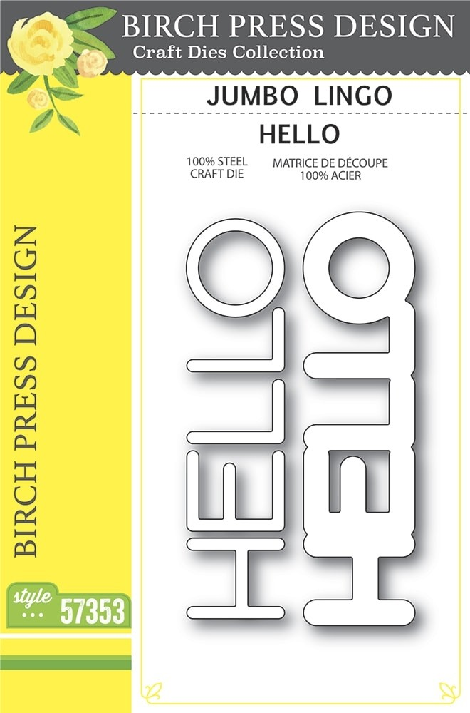 Birch Press Jumbo Lingo Hello 57353