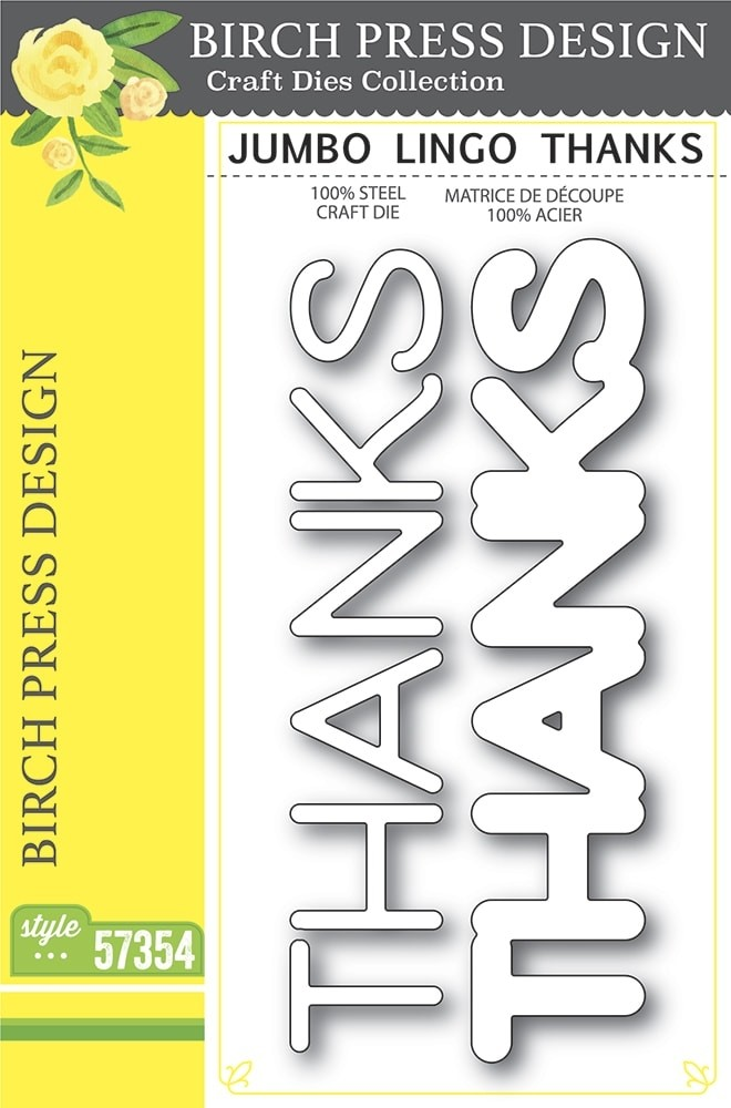 Birch Press Jumbo Lingo Thanks 57354