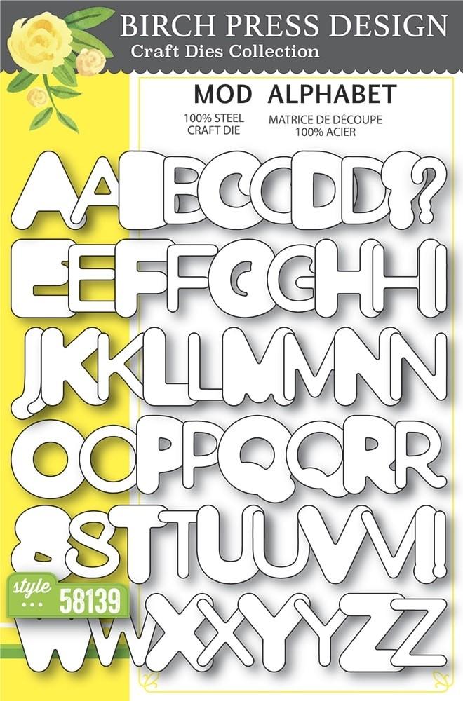 Birch Press Mod Alphabet 58139