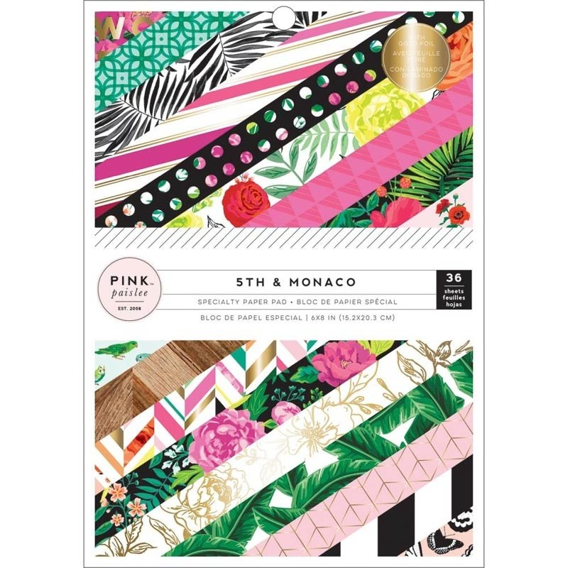 Pink Paislee 5th and Monaco Paper Pack