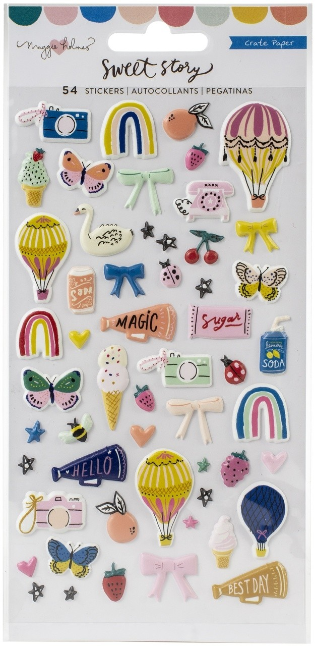 Maggie Holmes Sweet Story Puffy Stickers 50/Pkg