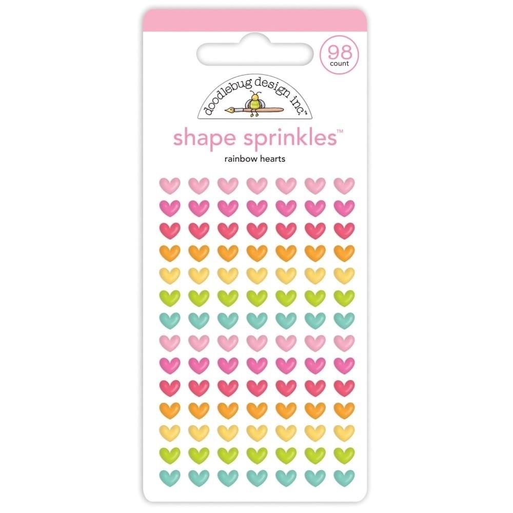 Rainbow Hearts by Doodlebug