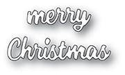 Memory Box Merry Christmas Cheshire Script Die 94022