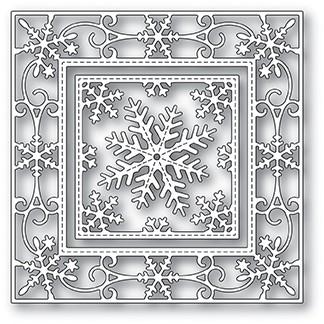 Memory Box Elegant Snowflake Double Frame Die 94024