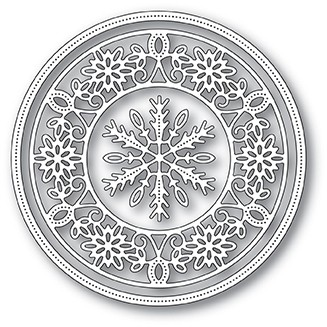 Memory Box Pinpoint Snowflake Circle Frame Die 94030