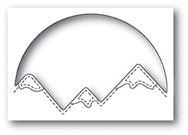 Memory Box Snowcapped Mountain Circle 94047