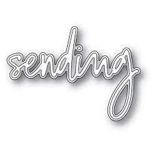 sale - poppystamps Sending Jotted Script 94073