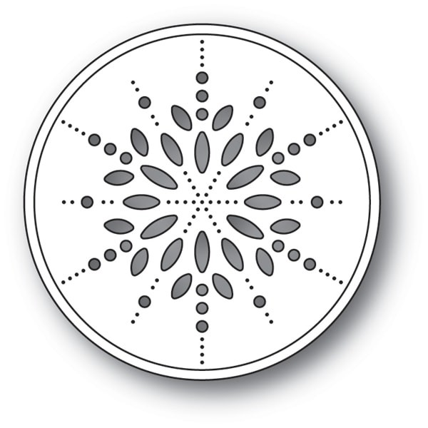 Memory Box Pinpoint Snowflake Circle craft die  94089