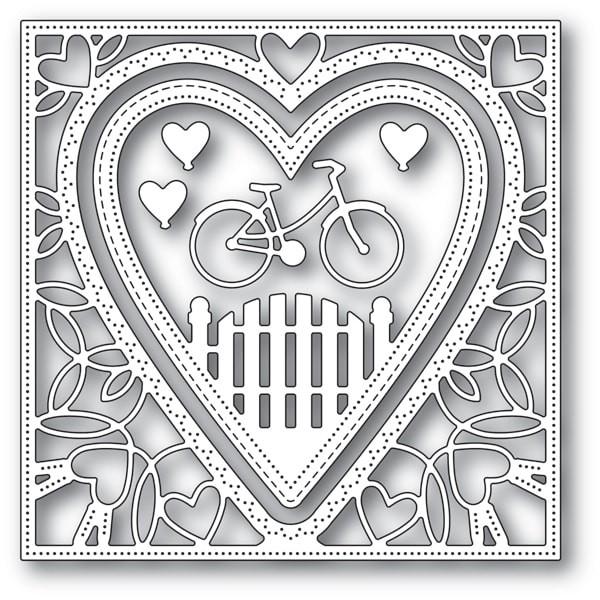 Memory Box Neighborhood Heart Frame 94102