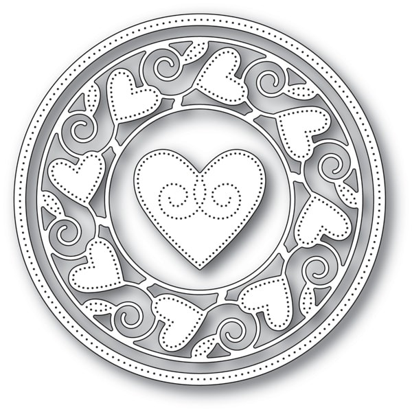 Memory Box Pinpoint Heart Circle Frame 94106