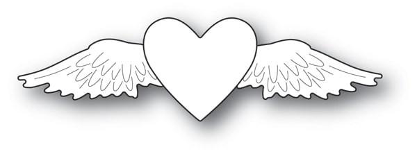 Memory Box Winged Heart Die 94108
